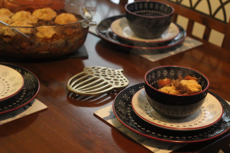 Vegetarian stew with dumplings